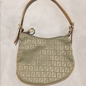 {Fendi}  Zucchino Oyster Bag